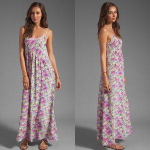Yumi Kim Silk Floral Alyssa Maxi Dress Pink, Sz S